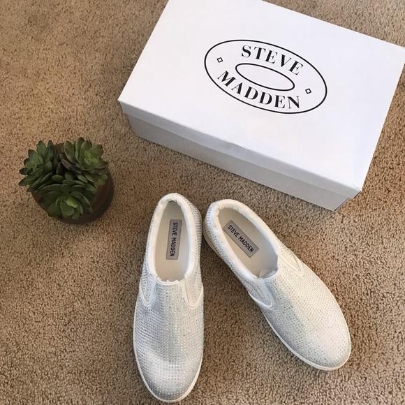 060cb7d6d9f NIB Steve Madden Rhinestone Ena Sneakers NWT